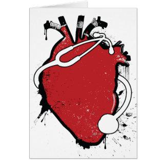 Cartes stéthoscope anatomique de coeur