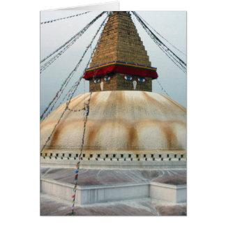 Cartes Stupa bouddhiste tibétain