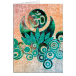 Cartes Style de batik d'énergie de Lotus