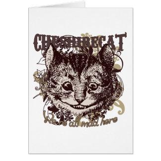 Cartes Style de Carnivale de chat de Cheshire