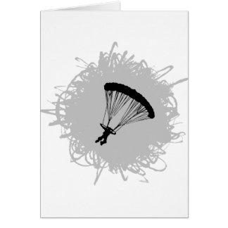 Cartes Style de parachutage de griffonnage