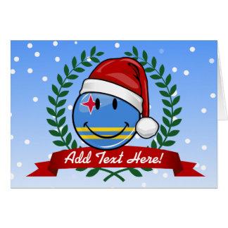 Cartes Style gai de Noël de drapeau d'Aruba