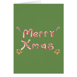 Cartes Sucre de canne de Joyeux Noël