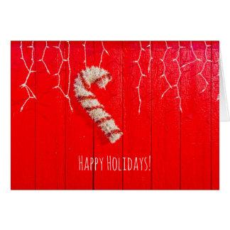 Cartes Sucre de canne sur le rouge - Noël - saisonnier -