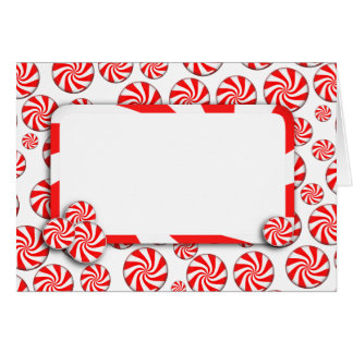 Cartes Sucrerie de menthe poivrée de Noël avec