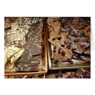 Cartes Sucrerie d'écorce de chocolat, enveloppe incluse