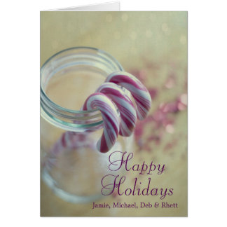Cartes Sucres de canne de Noël dans le pot en verre