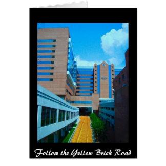 Cartes Suivez la route jaune de brique