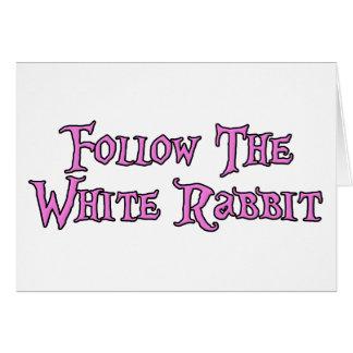 Cartes Suivez le lapin blanc