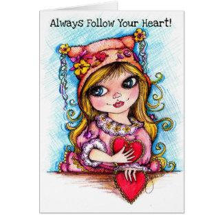 Cartes Suivez toujours votre coeur !