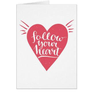 Cartes Suivez votre coeur