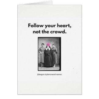 Cartes Suivez votre coeur….