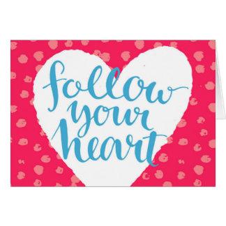 Cartes Suivez votre coeur 3