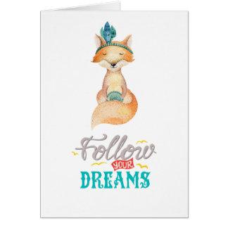 Cartes Suivez votre Fox de rêves