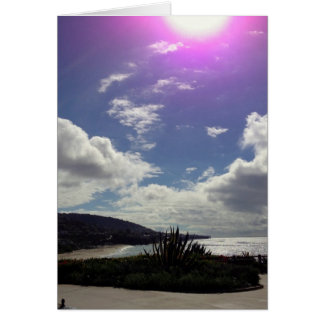 Cartes Sun au-dessus de Laguna Beach