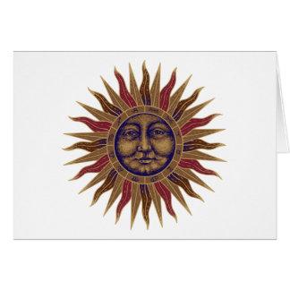 Cartes Sun céleste font face