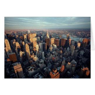 Cartes Sun place sur la vue de paysage urbain de New York
