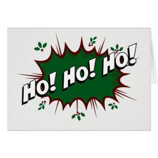 Cartes Super héros comique Ho ! Ho ! Ho !