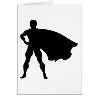 Cartes Super héros de silhouette
