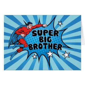 Cartes Super héros devenant un frère