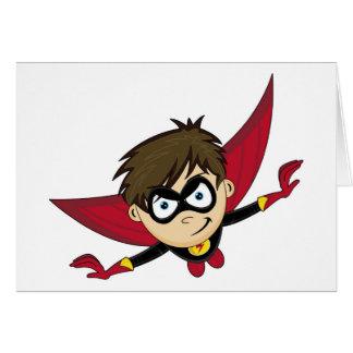 Cartes Super héros mignon de bande dessinée
