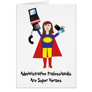 Cartes Superhéros professionnel administratif (brune)