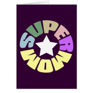 Cartes SuperMom : Ma mère est mon superhéros
