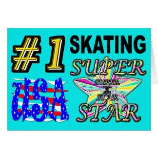 Cartes Superstar de patinage des Etats-Unis du numéro un