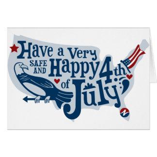 Cartes Sûr et heureux 4 juillet