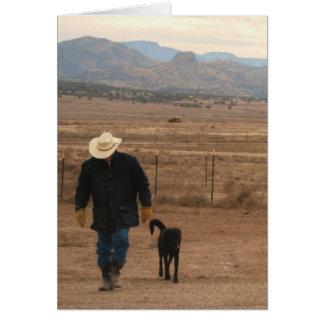 Cartes Sur mon appui d'esprit - amoureux des chiens