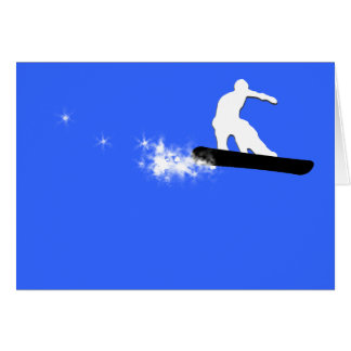 Cartes surf des neiges. simple