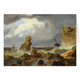 Cartes Surf sur une côte rocheuse, 1835