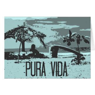 Cartes Surfer bleu du Costa Rica Pura Vida