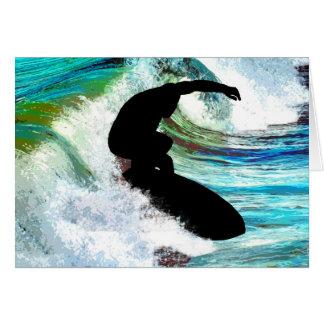 Cartes Surfer dans la vague de bordage