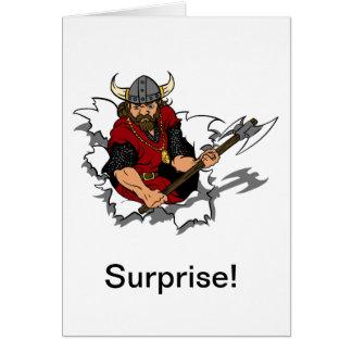 Cartes Surprise de guerrier de Viking