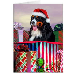 Cartes Surprise de Noël de chien de montagne de Bernese