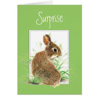 Cartes Surprise, vous obtenez une note de moi, lapin