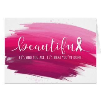 Cartes Survivant de cancer du sein vous êtes beaux