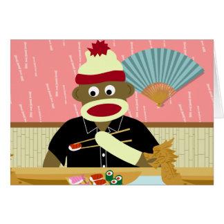 Cartes Sushi de singe de chaussette