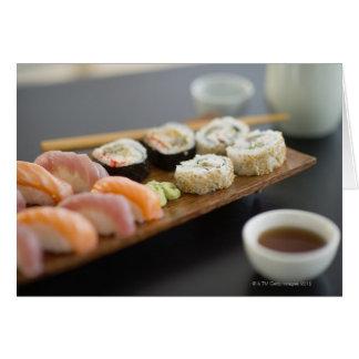 Cartes Sushi japonais traditionnels