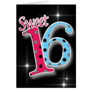 Cartes Sweet sixteen 16ème de joyeux anniversaire