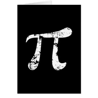 Cartes Symbole blanc de la grunge pi