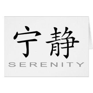 Cartes Symbole chinois pour la sérénité