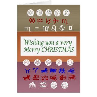 Cartes Symbole d'astrologie de zodiaque : Noël de Joyeux