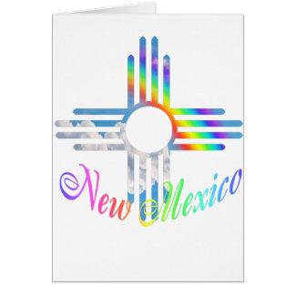 Cartes Symbole de Zia d'arc-en-ciel du Nouveau Mexique