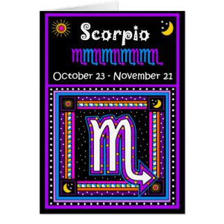 Cartes Symbole de zodiaque de Scorpion