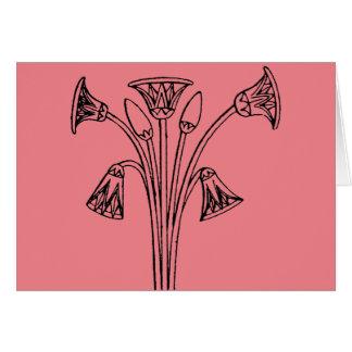 Cartes Symbole égyptien : Lotus