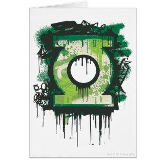 Cartes Symbole vert de graffiti de lanterne