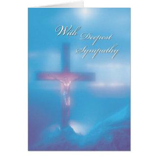 Cartes Sympathie de bleu du crucifix 2845
