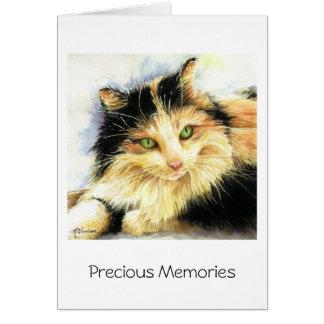 Cartes Sympathie de chat de calicot 0010